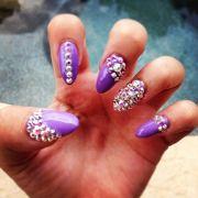stiletto nails with rhinestones