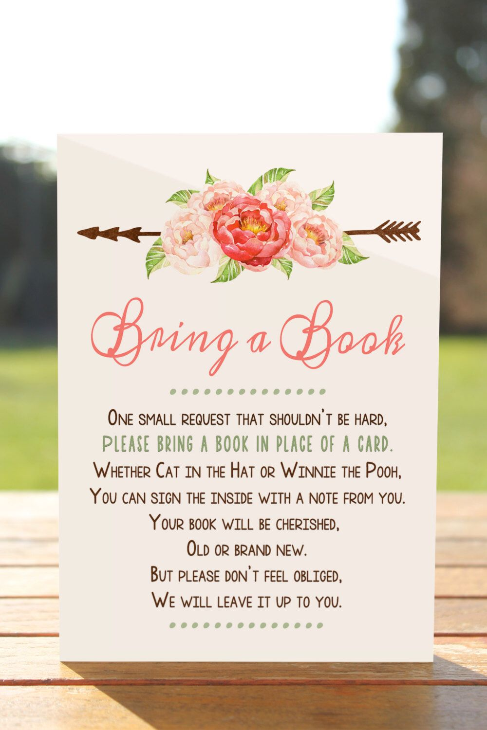 Bring A Book Instead Of A Card Bring A Book Baby Shower