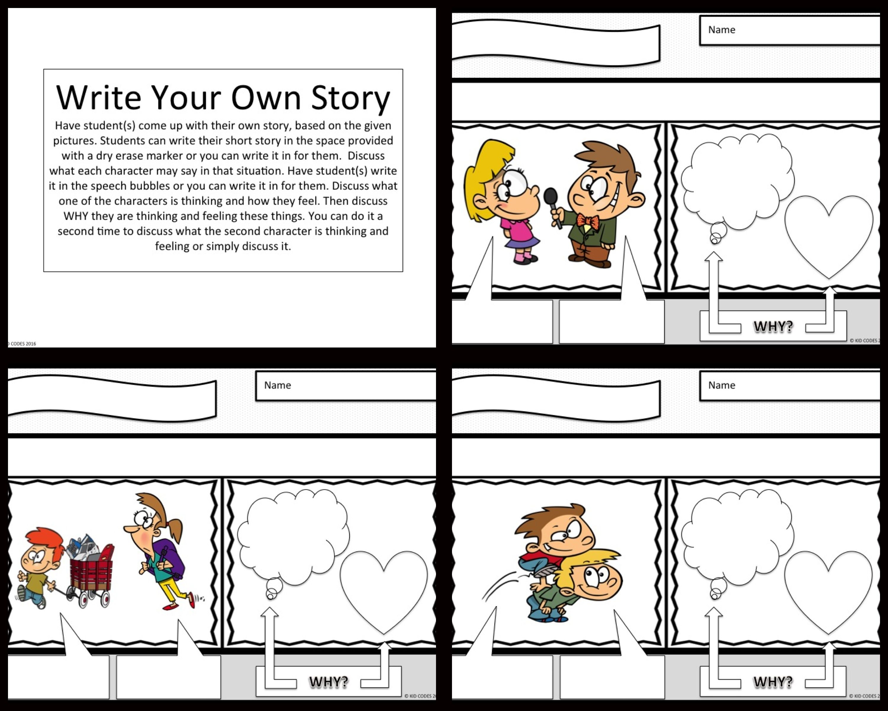 Perspective Taking Comic Strip Activity For K 2nd Grade