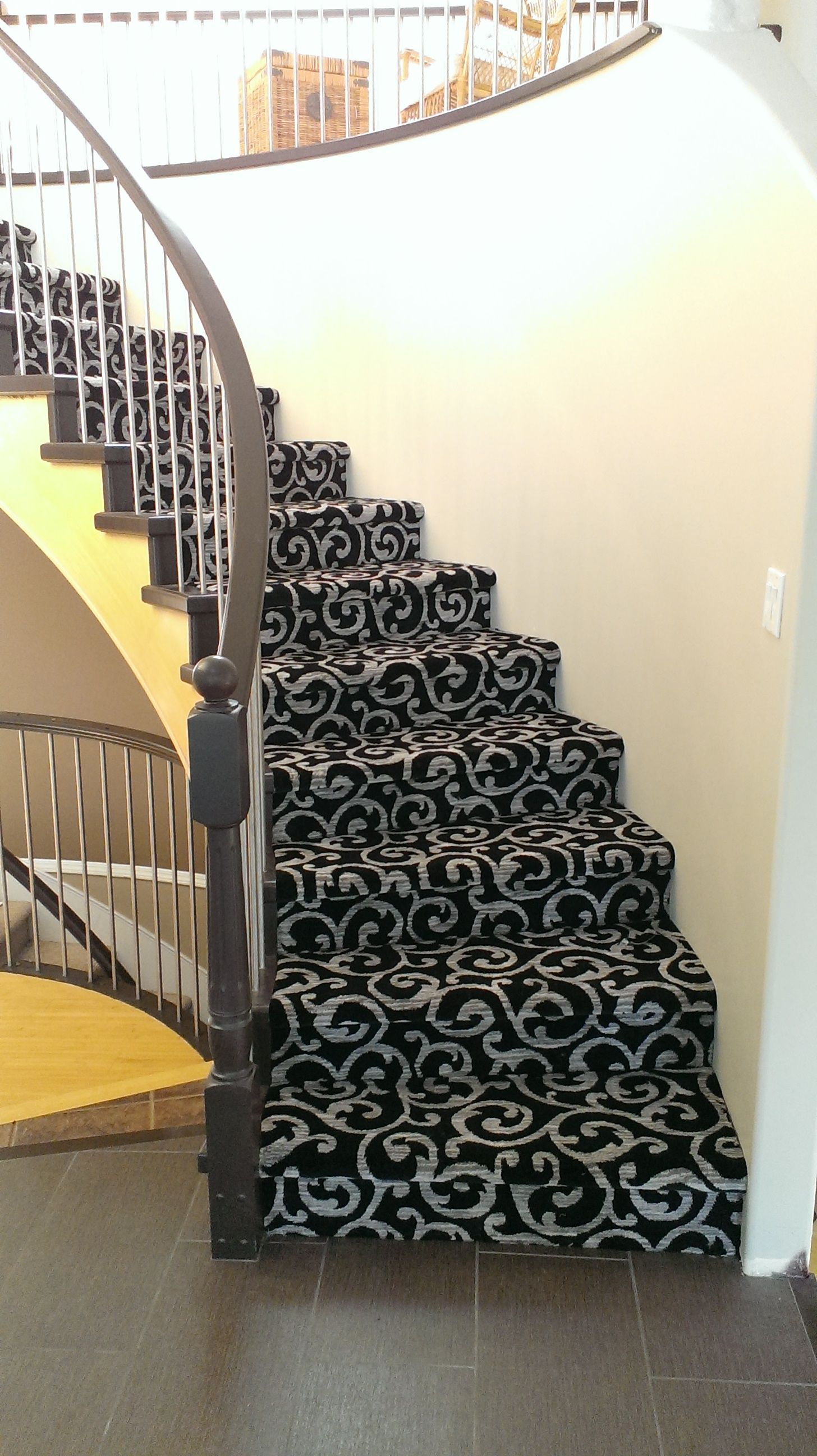 Another Beautiful Patterned Kane Carpet Stair Installation