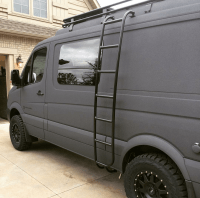 Sportsmobile Sprinter 4x4 van with Aluminess ladder and ...