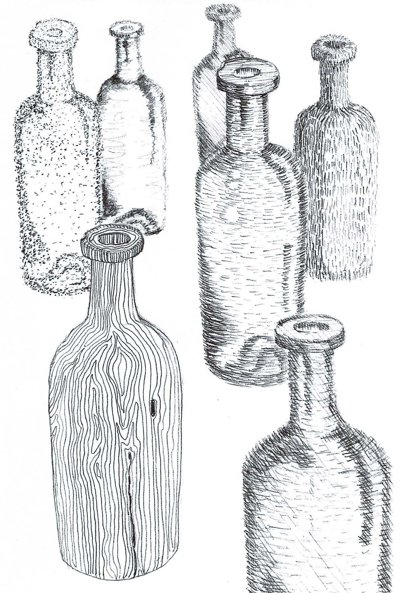 Creating Texture With Different Types Of Cross Hatching Stippling Using The Same Object Like