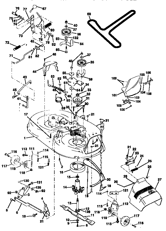 Pin Craftsman Riding Mower Belt Diagram Www Searspartsdirect Com