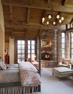 bedroom with great view and brings that inside by using natural elements like exposed wood rock country rustic jerry also boy en girl gonna make this place my home pinterest bedrooms rh