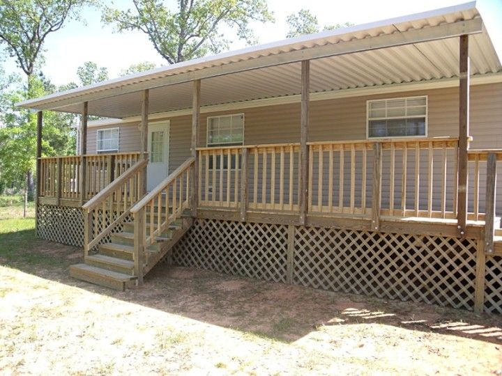 Mobile Home Steps And Decks Serve In Simple House Ornamentation