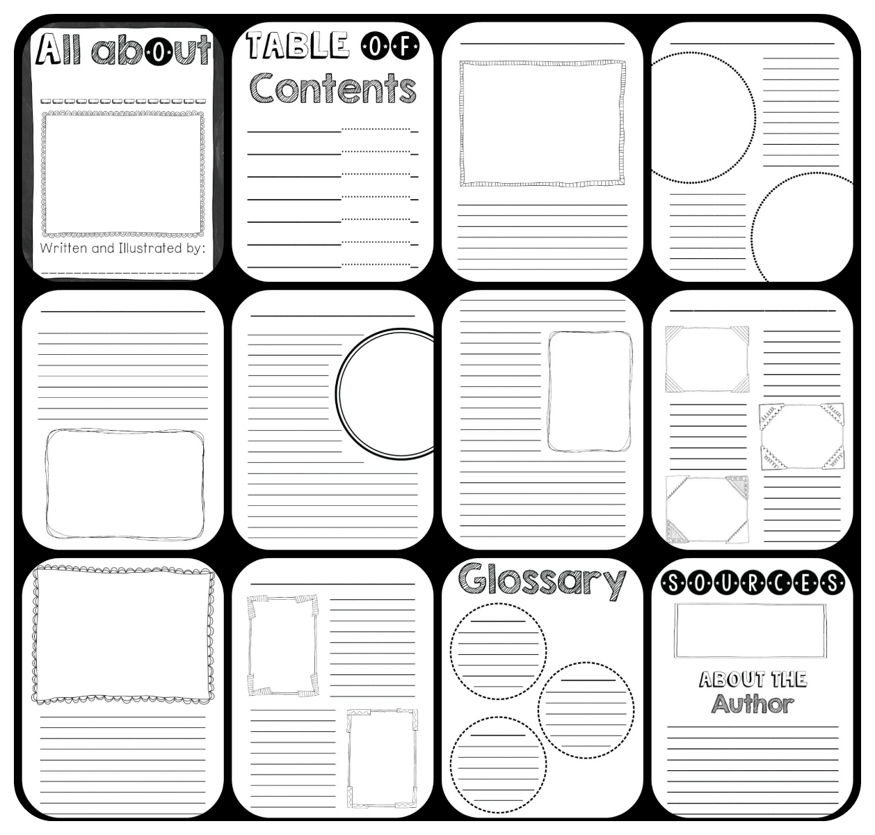 Nonfiction Book template for kids to create their own