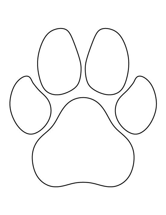 Dog paw print pattern. Use the printable outline for