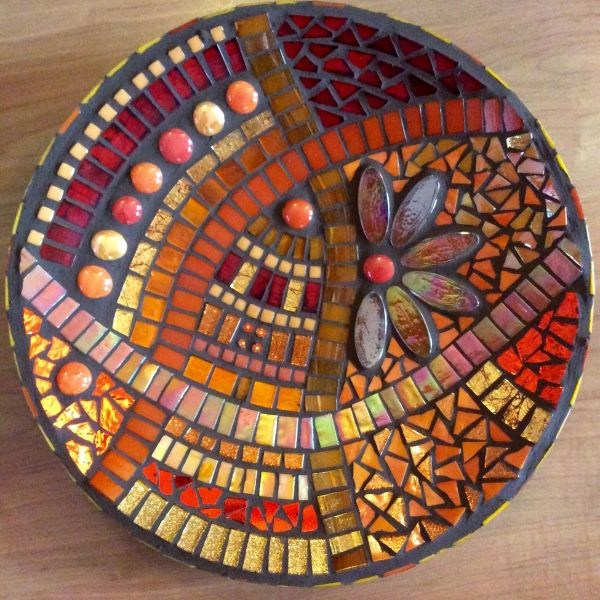 Stained Glass Mosaic Bowl