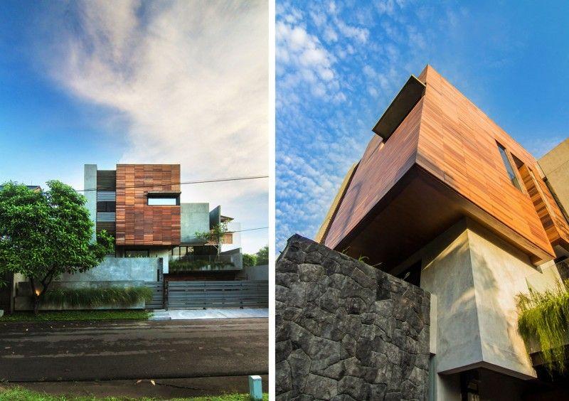 Lumber Shaped Box House By Atelier Riri House Design