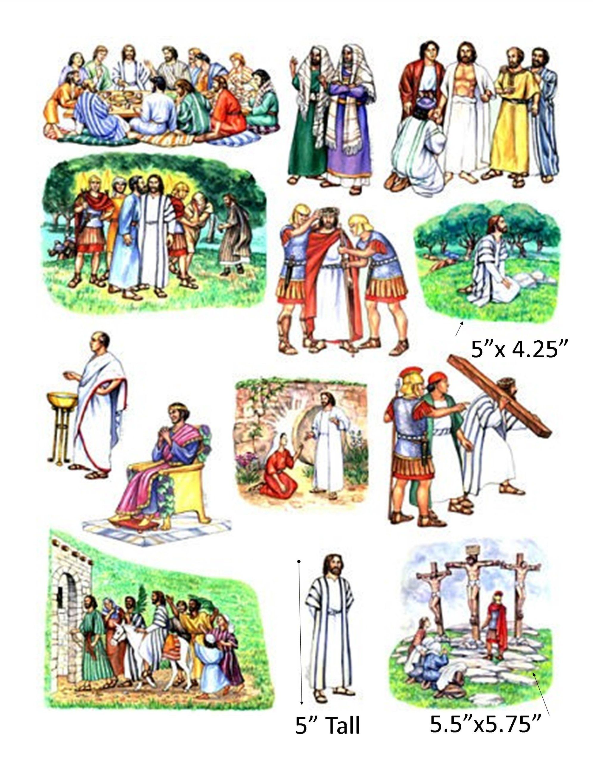 Amazon Story Amp Life Of Jesus 13 Bible Stories Felt