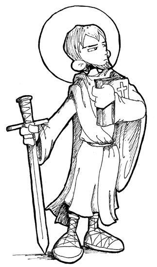 Saint Paul the Apostle Catholic coloring page. The feast