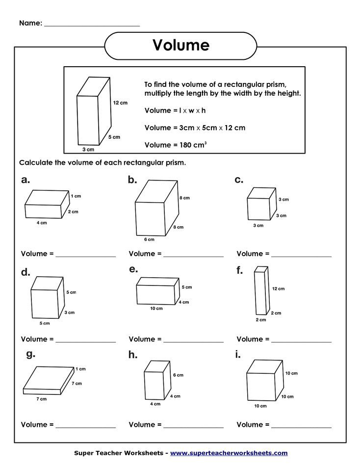 Common Core Math Worksheets 5th Grade Volume - Favorite ...