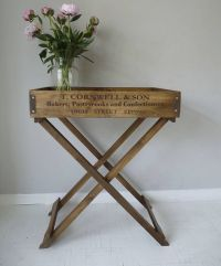 wooden butler's tray table by cooper rowe vintage living ...