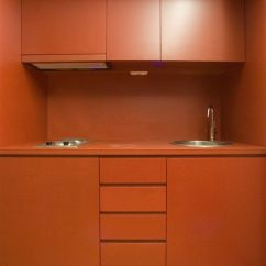 Modern Kitchen Nook Recycling Bins Valchromat Orange | Design Pinterest Kitchens ...