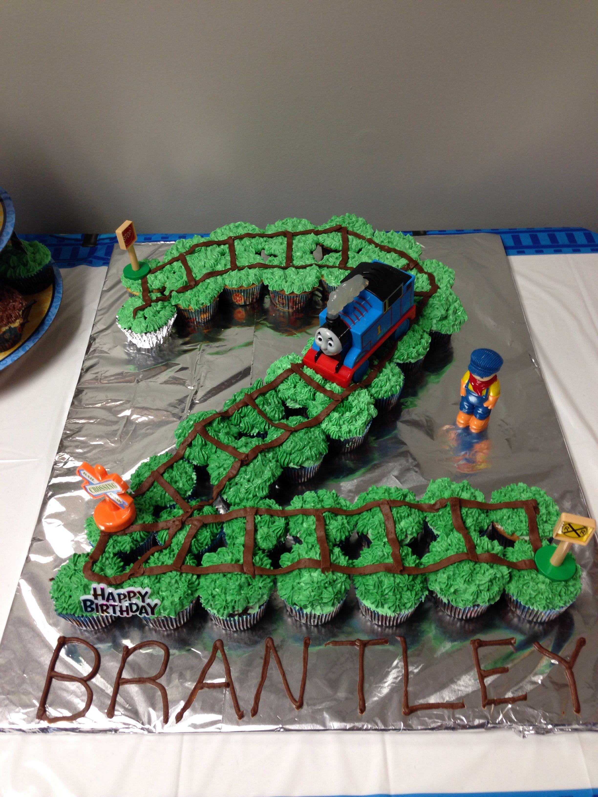 Thomas The Train Birthday Cupcake Cake