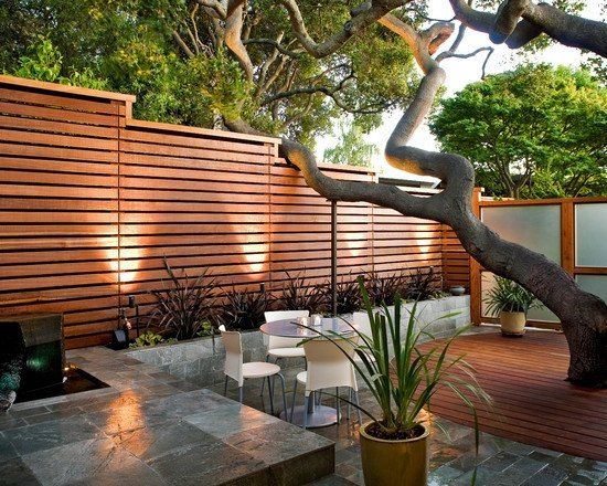 Tall Horizontal Wood Privacy Fence Gartenhag Pinterest
