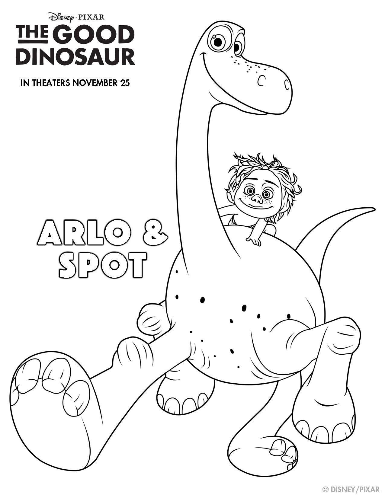 Disney-Pixar's THE GOOD DINOSAUR Printables to Make Your
