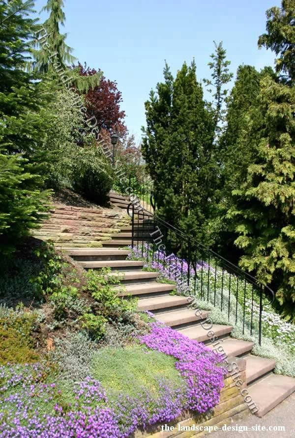 Landscaping A Steep Hillside Steep Hillside Stairs Landscape