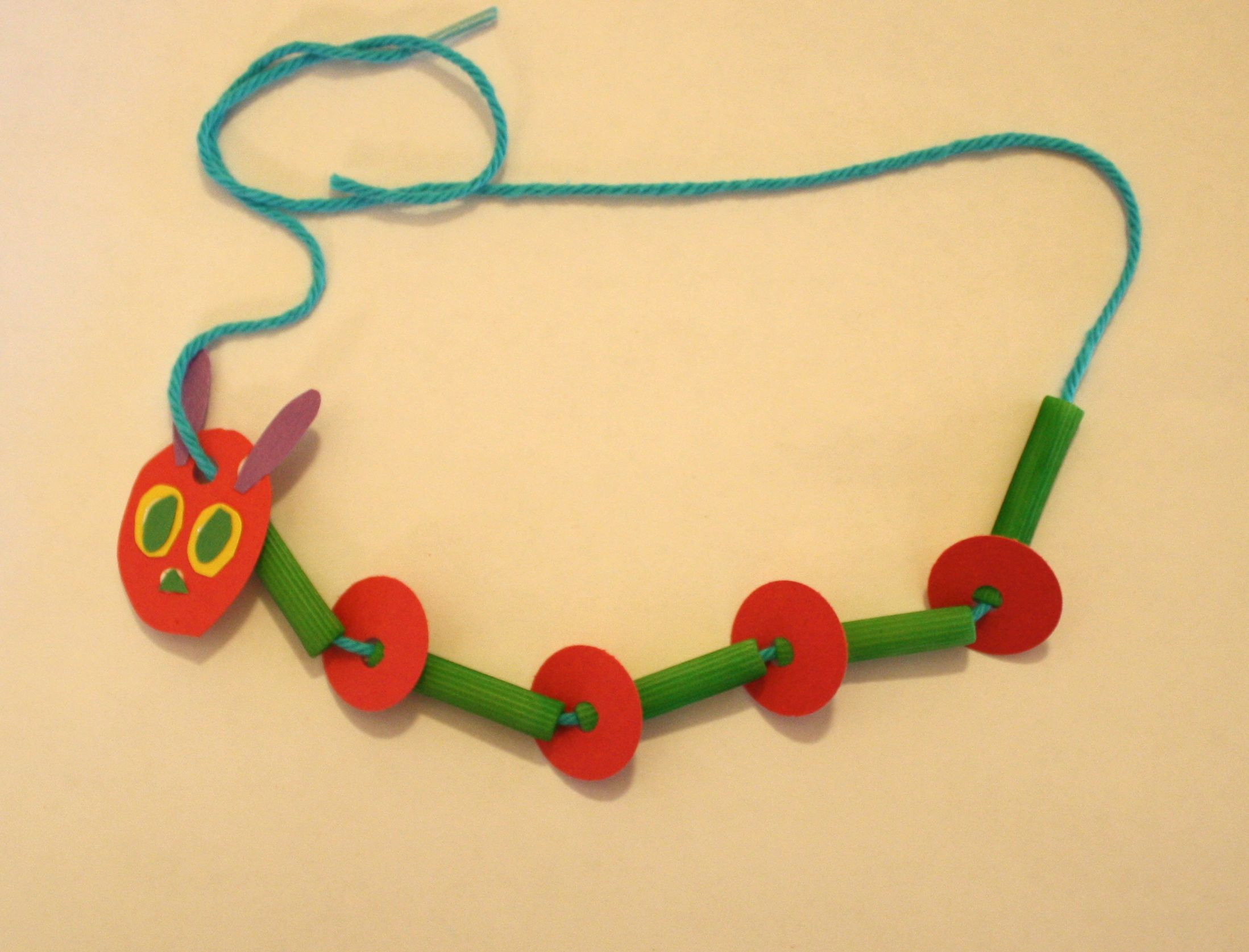 Crafts For Kids Caterpillar Necklace Craft