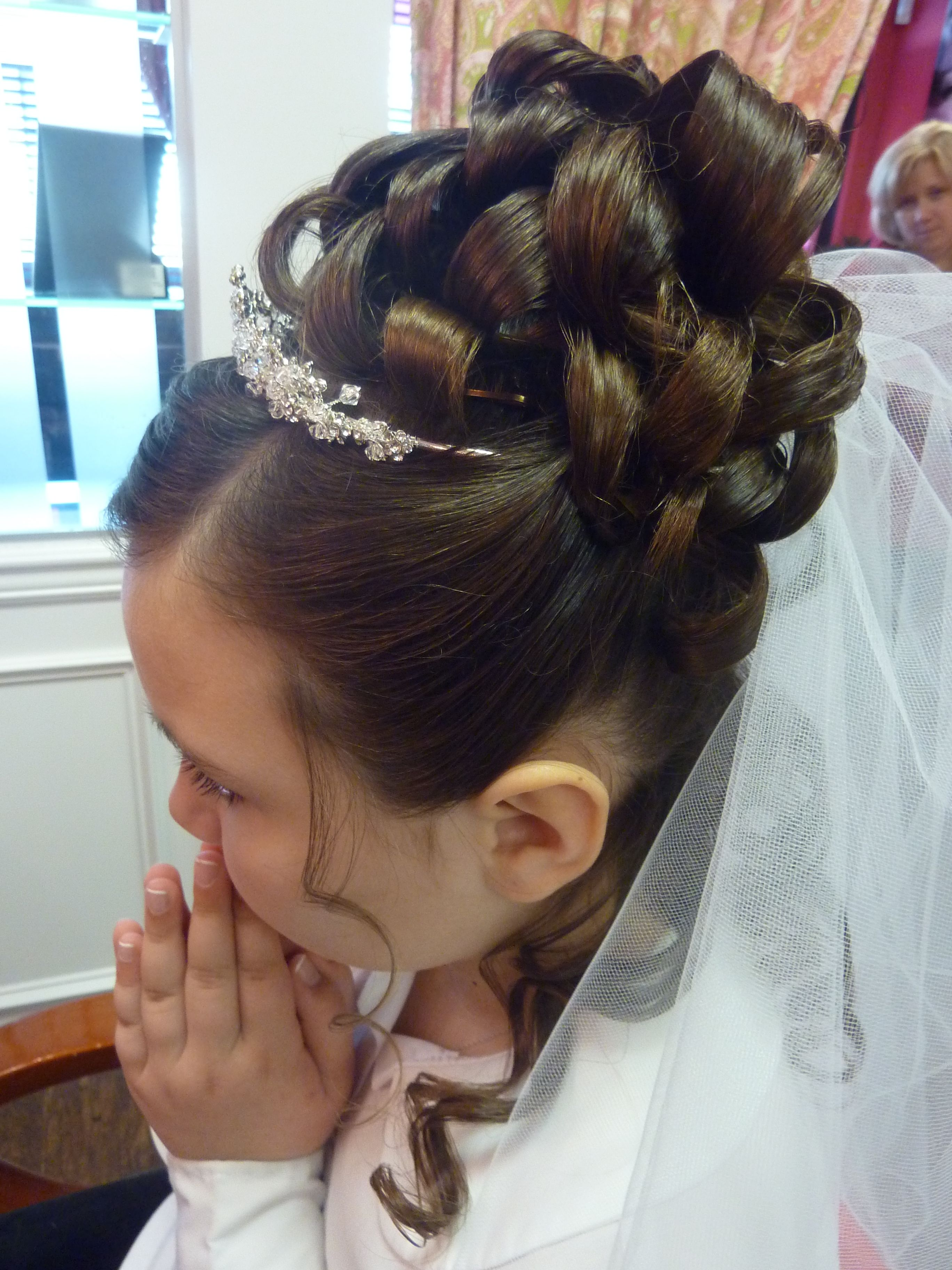 Communion Hair #updo #kidshairstyling # Hair Styling Pinterest