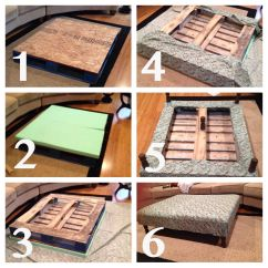 Diy Pallet Sofa Table Instructions Set India Ottoman Coffee Pinterest