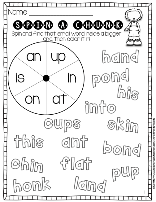 Chunky Monkey Reading Strategy: Lesson Plan, Center