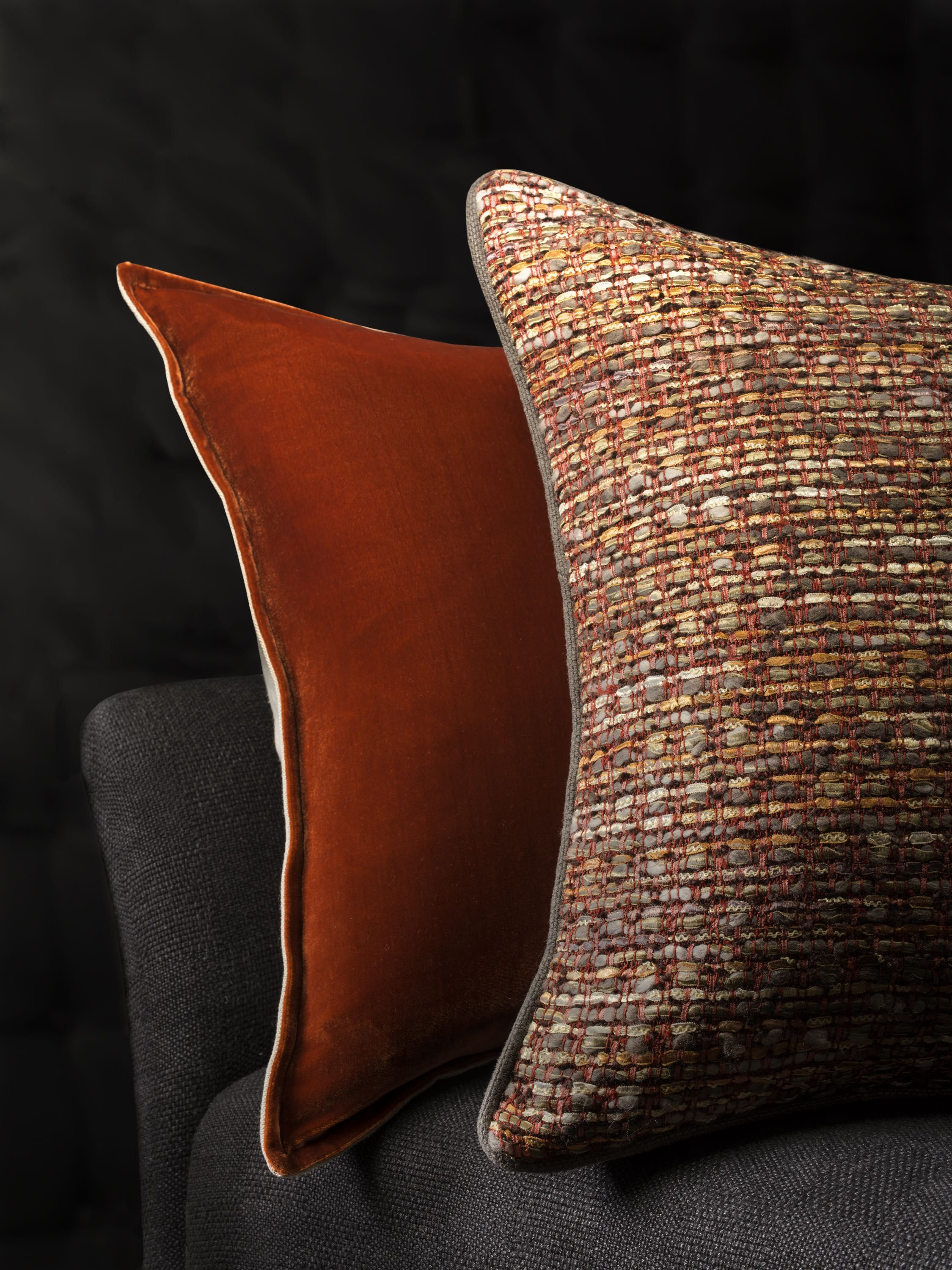 burnt orange chair uk covers hire newcastle silk velvet cushion and persia in
