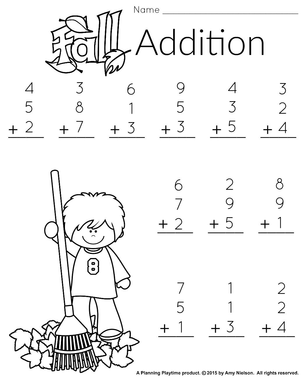 Turkey Math Worksheet First Grade