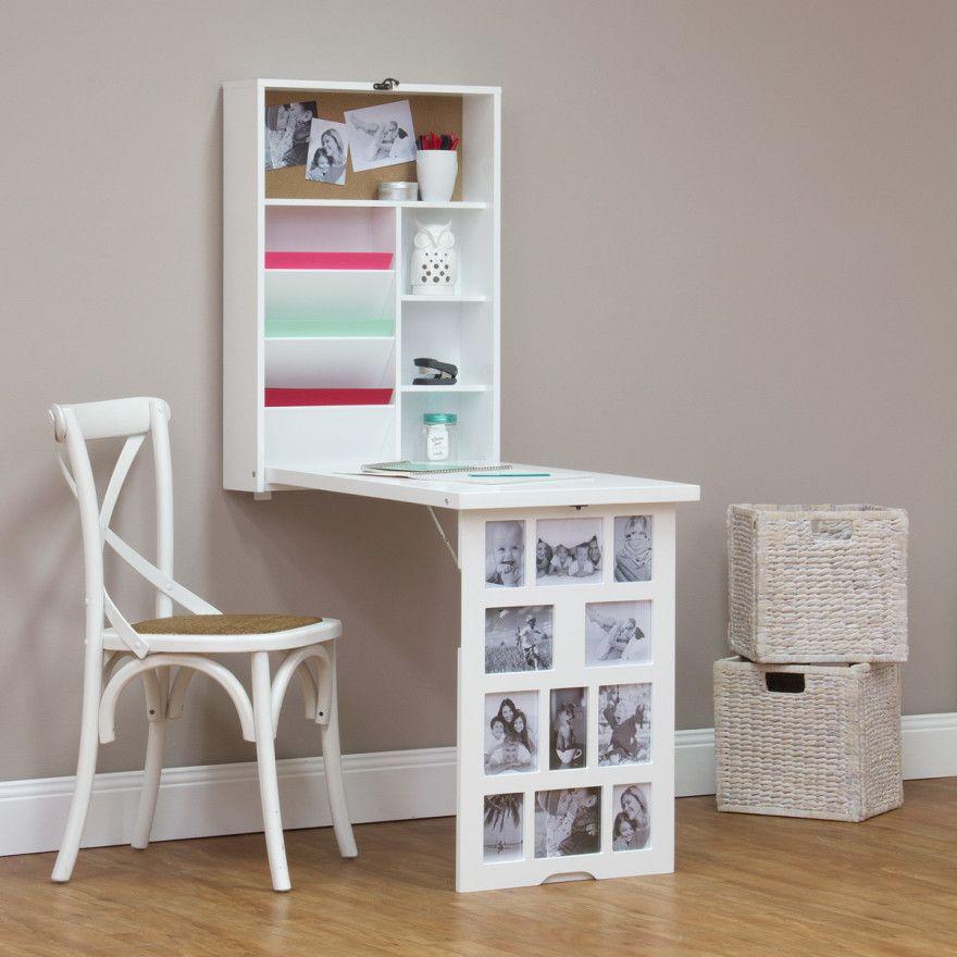 Photo Frame Fold Down Multi Storage Desk