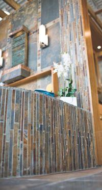 The beautiful Copper Rust Corinth mosaic. #slate #tile # ...