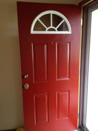Painting front door red behr premium ultra exterior red ...