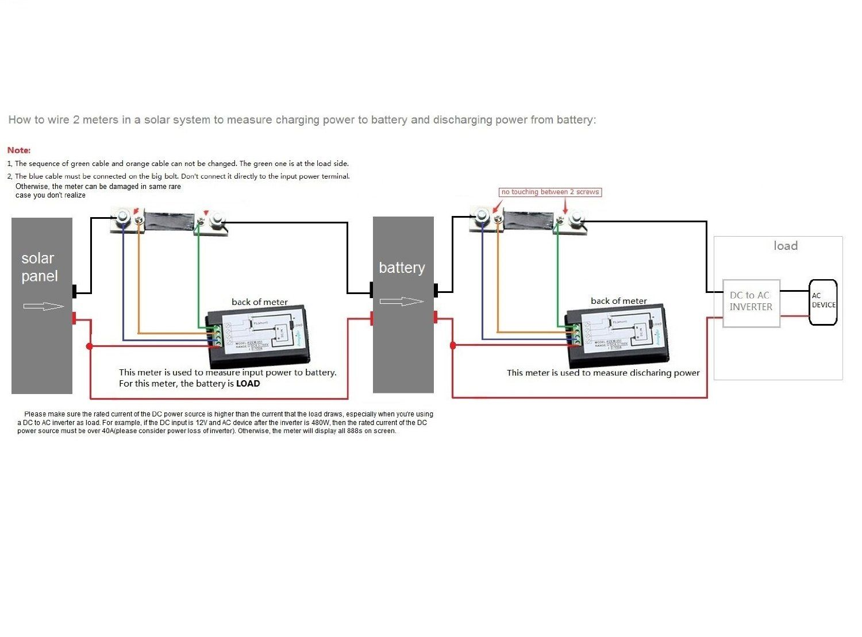 dc ammeter shunt wiring diagram 2002 international 4300 bayite 6 5 100v 100a lcd display digital current