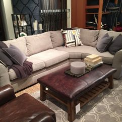 Pottery Barn Chaise Sofa Sectional Sleeper And Futons Pearce In Silver Taupe Perfect