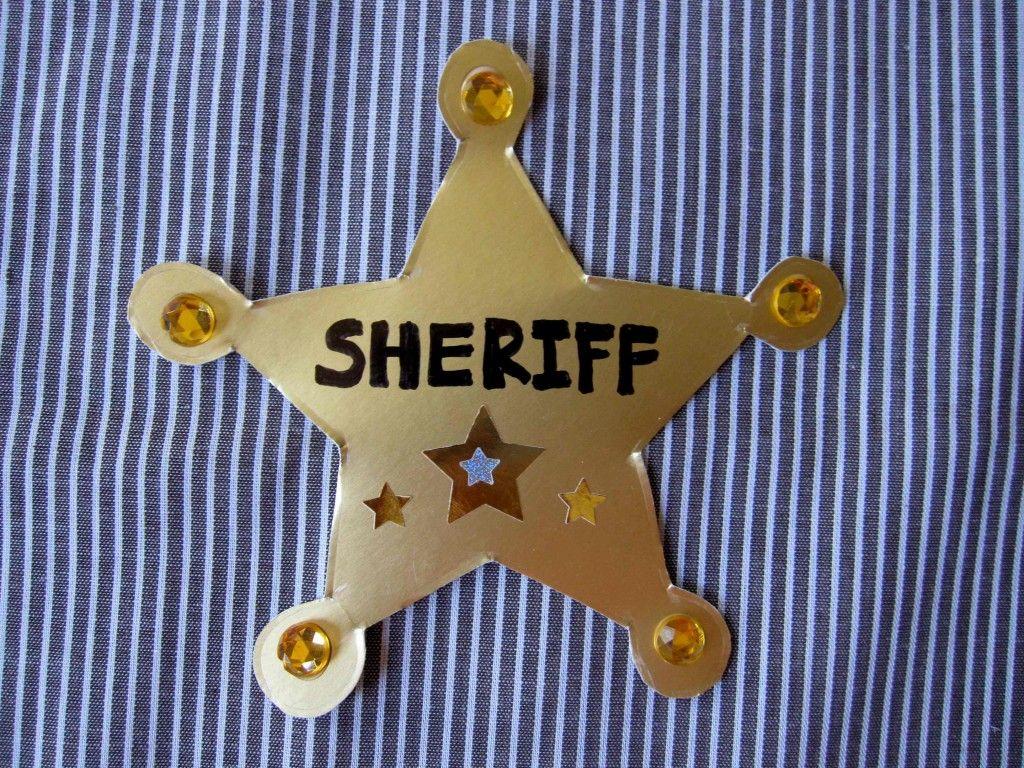 Sheriff Badge Craft Printable Templates