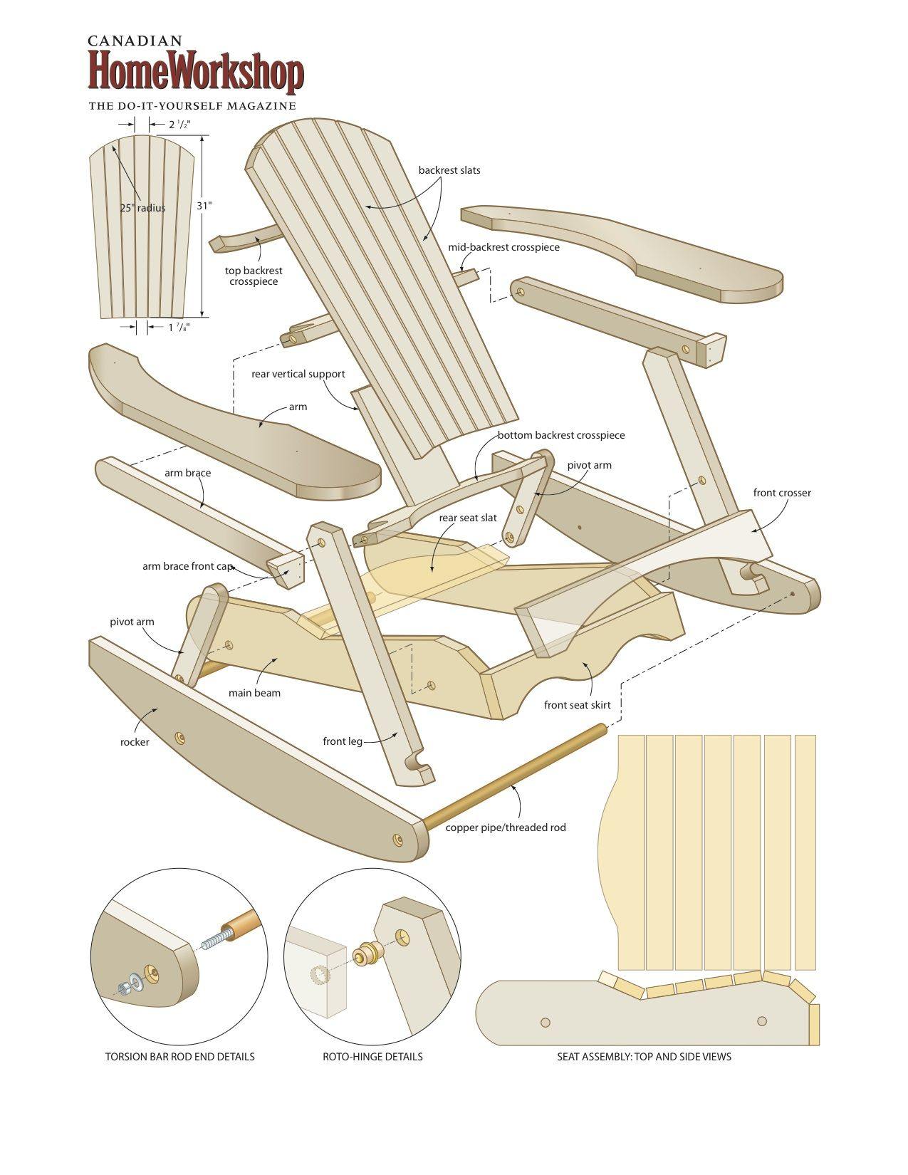 easy adirondack chair plans rattan dining chairs rocking free projects and