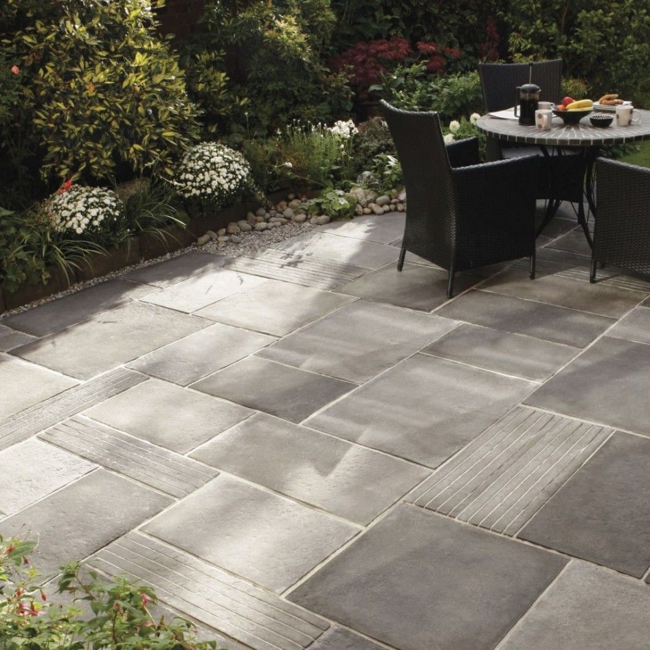 Captivating Outdoor Patio Stones And Pavers From Grey Stained