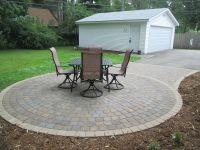 Anchor Kingston circular paver patio - Northwoods color ...