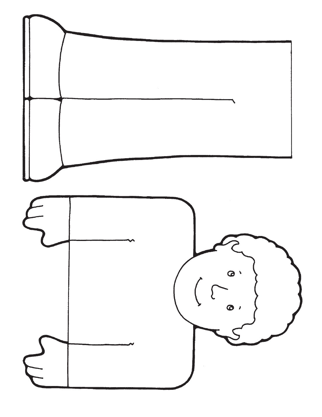 Free coloring pages of paper bag dog puppet
