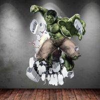 INCREDIBLE HULK 3D Avengers Multi Colour wall art sticker ...