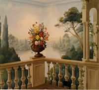 classic painted wall mural