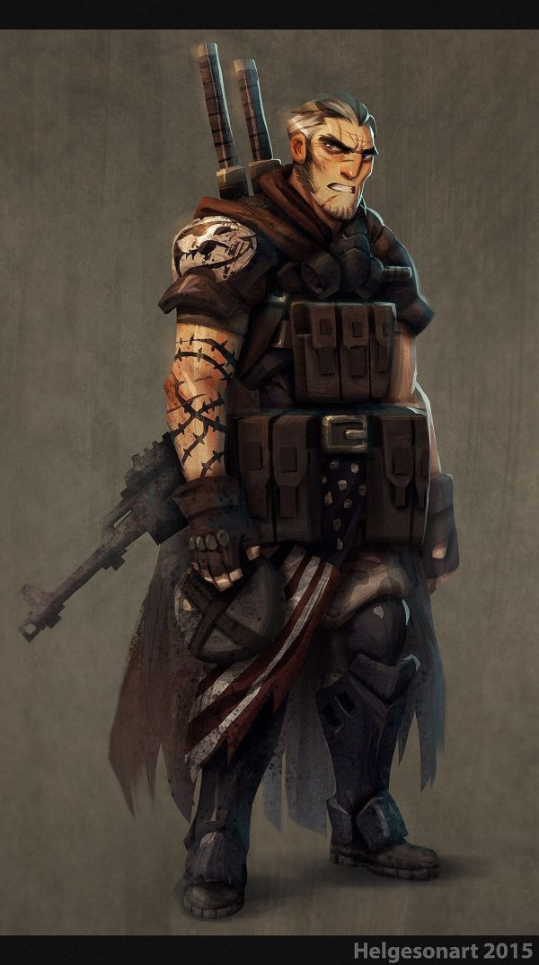 Artstation - Post-apocalyptic Survivor Johannes Helgeson