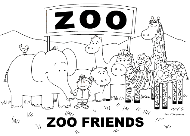 zoo coloring pages for kindergarten 1 Zoo Coloring Pages