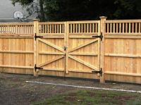 Wood Fence Double Gate Design Ideas With Wood Gate ...