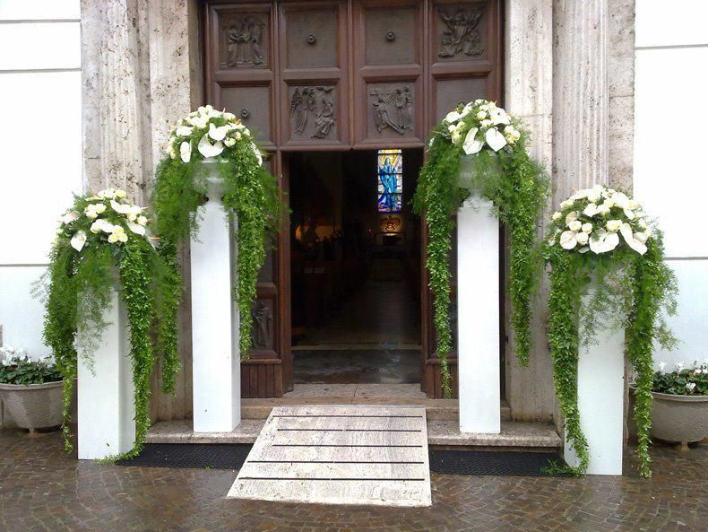 Elegant Pillars For Any Wedding Entrance Or Wedding Set. Can Do Greenery Or Flowers Or Both. Www