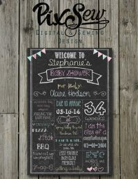 Best 25+ Baby shower chalkboard ideas on Pinterest | Baby ...