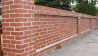 brick fence designs