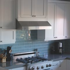 Blue Tile Backsplash Kitchen Ellas Baby Food Best For Dark Cabinets Sky Glass Subway