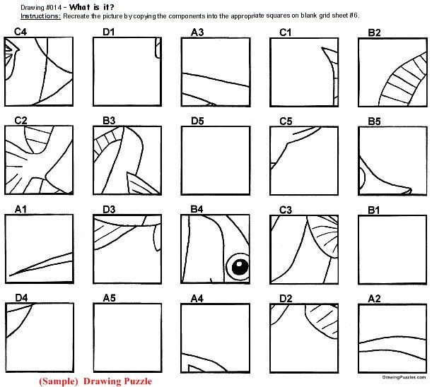 Grid Drawing Puzzles 10 Mystery Grid Drawings by