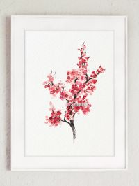 Cherry Blossom Tree, Sakura Home Decor, Minimalist ...