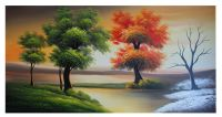Seasons Scenery oil painting natural landscape for wall ...